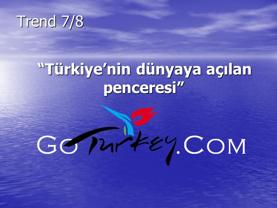 Türkiye'nin dünyaya açılan penceresi