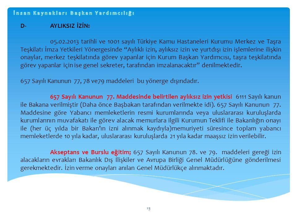 657 Sayılı Kanunun 77, 78 ve79 maddeleri bu yönerge dışındadır.