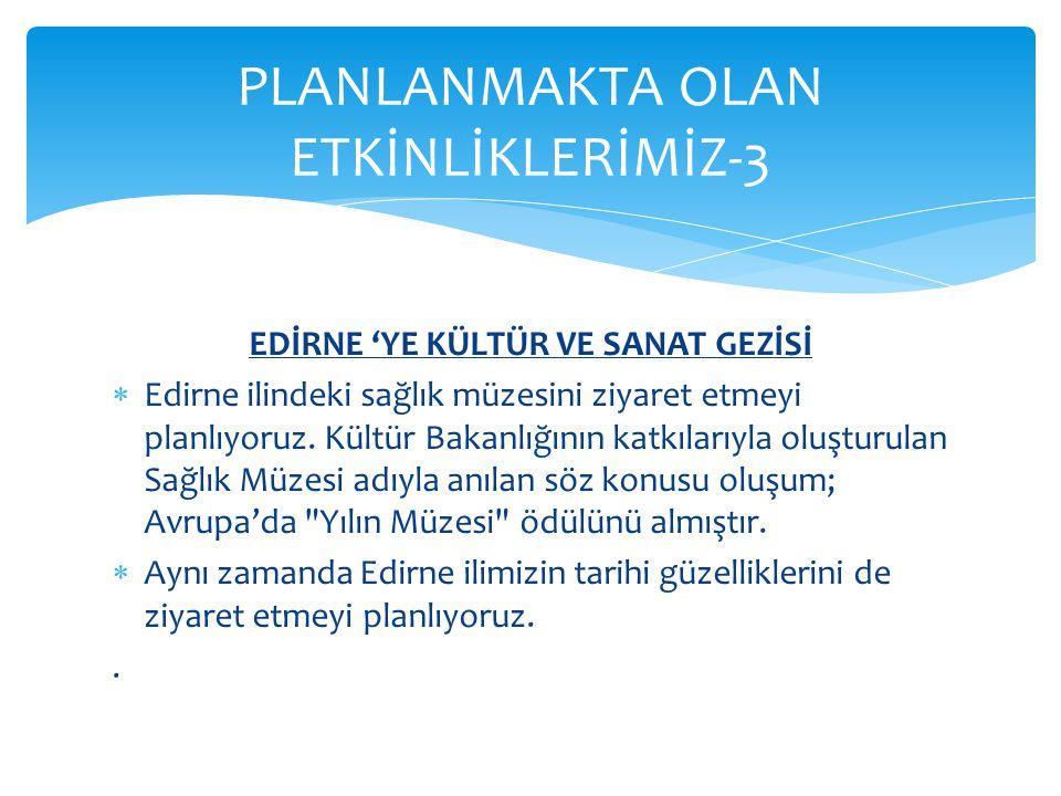 PLANLANMAKTA OLAN ETKİNLİKLERİMİZ-3