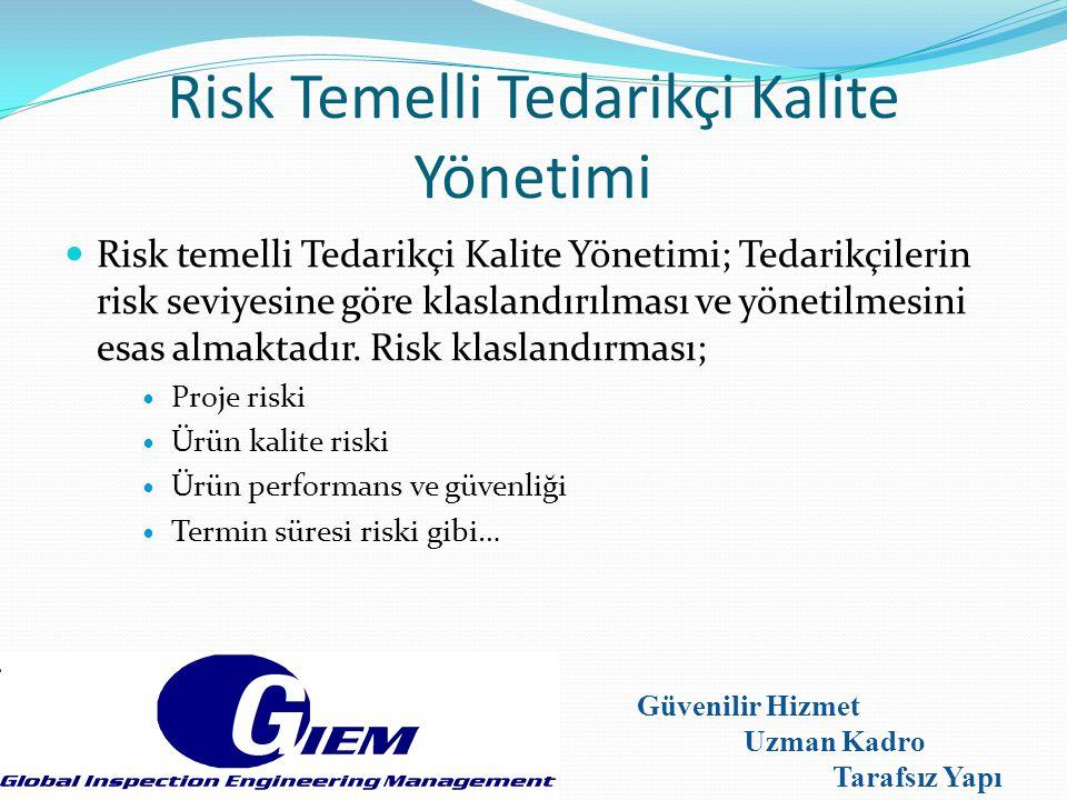 Risk Temelli Tedarikçi Kalite Yönetimi