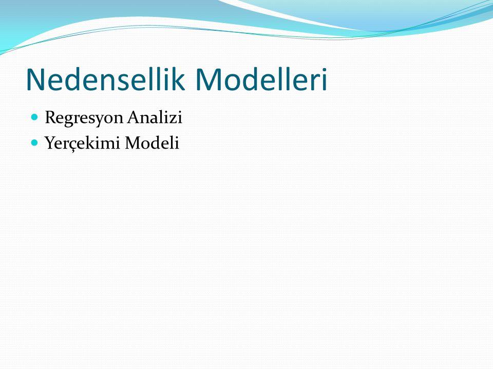 Nedensellik Modelleri