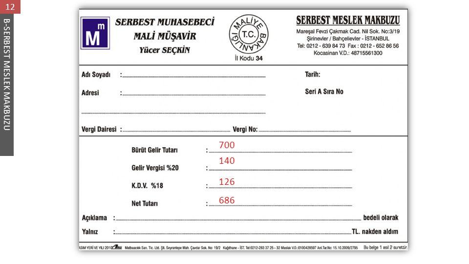 12 B-SERBEST MESLEK MAKBUZU 700 140 126 686