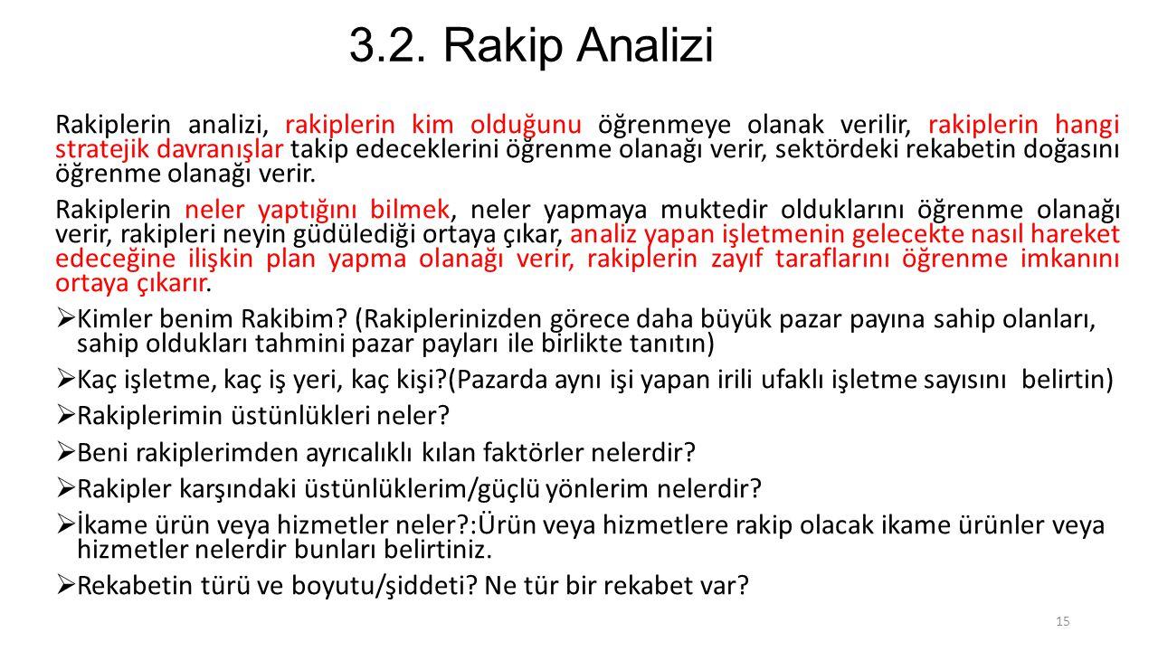 3.2. Rakip Analizi