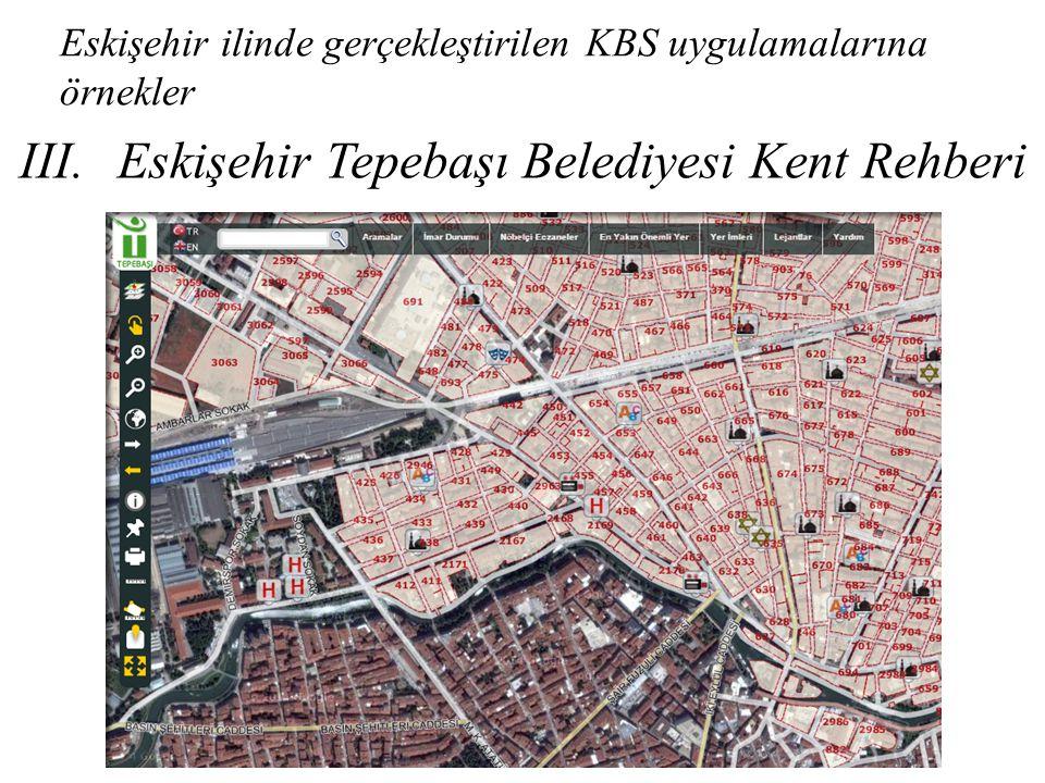 Eskişehir ilinde gerçekleştirilen KBS uygulamalarına örnekler