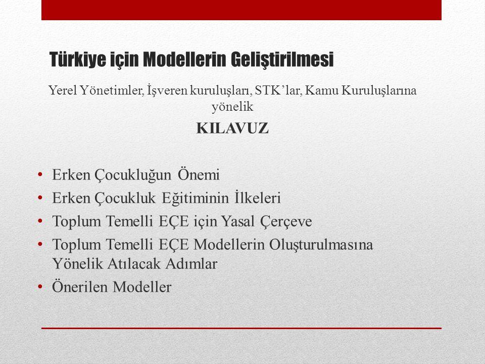 Türkiye için Modellerin Geliştirilmesi
