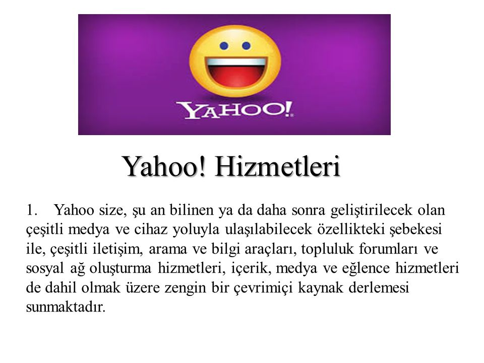Yahoo! Hizmetleri