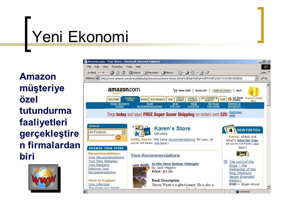 Yeni Ekonomi Amazon müşteriye özel tutundurma faaliyetleri gerçekleştiren firmalardan biri
