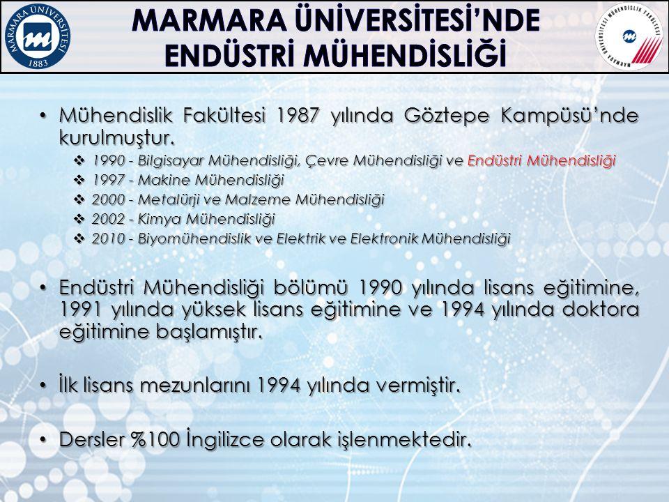MARMARA ÜNİVERSİTESİ'NDE ENDÜSTRİ MÜHENDİSLİĞİ