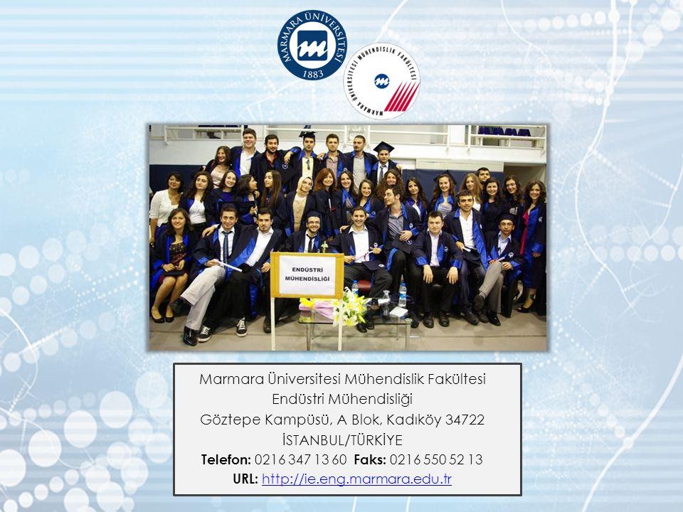 Marmara Üniversitesi Mühendislik Fakültesi Endüstri Mühendisliği
