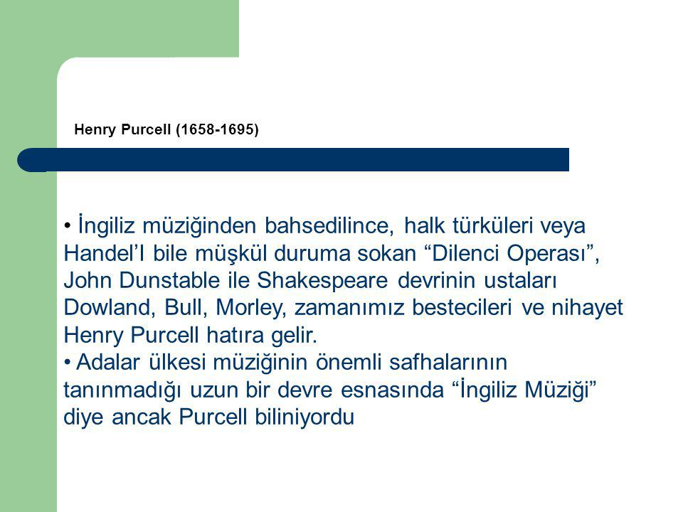 Henry Purcell (1658-1695)