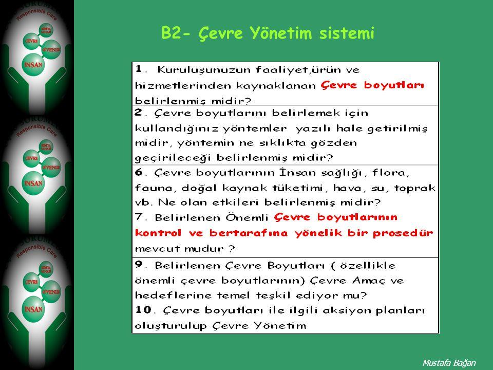 B2- Çevre Yönetim sistemi