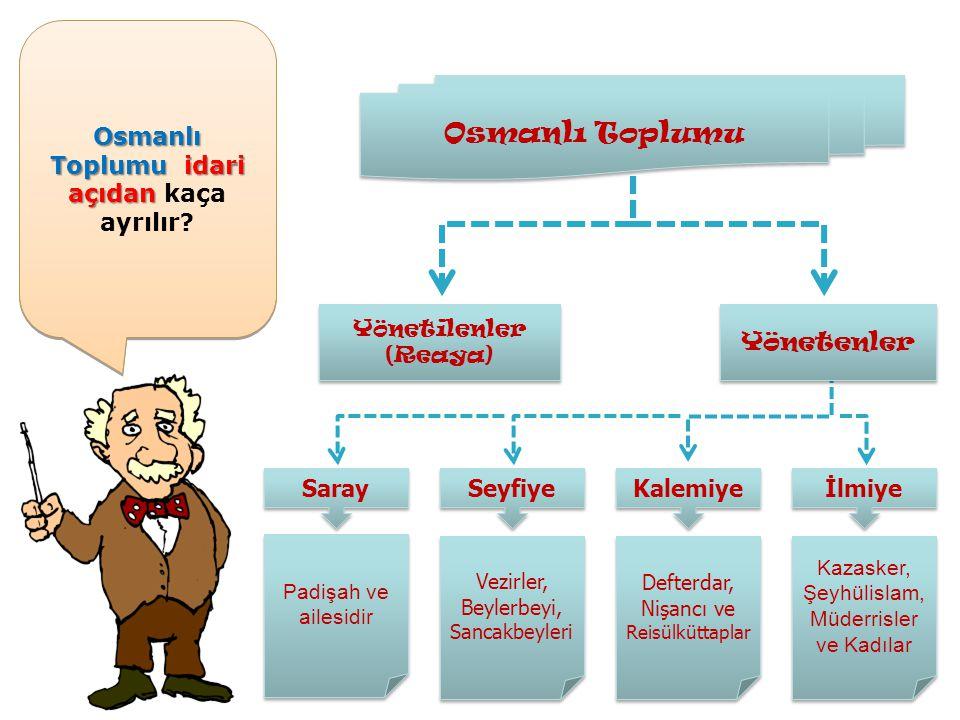 Osmanlı Toplumu idari açıdan kaça ayrılır