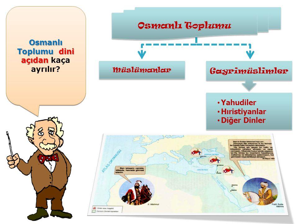Osmanlı Toplumu dini açıdan kaça ayrılır