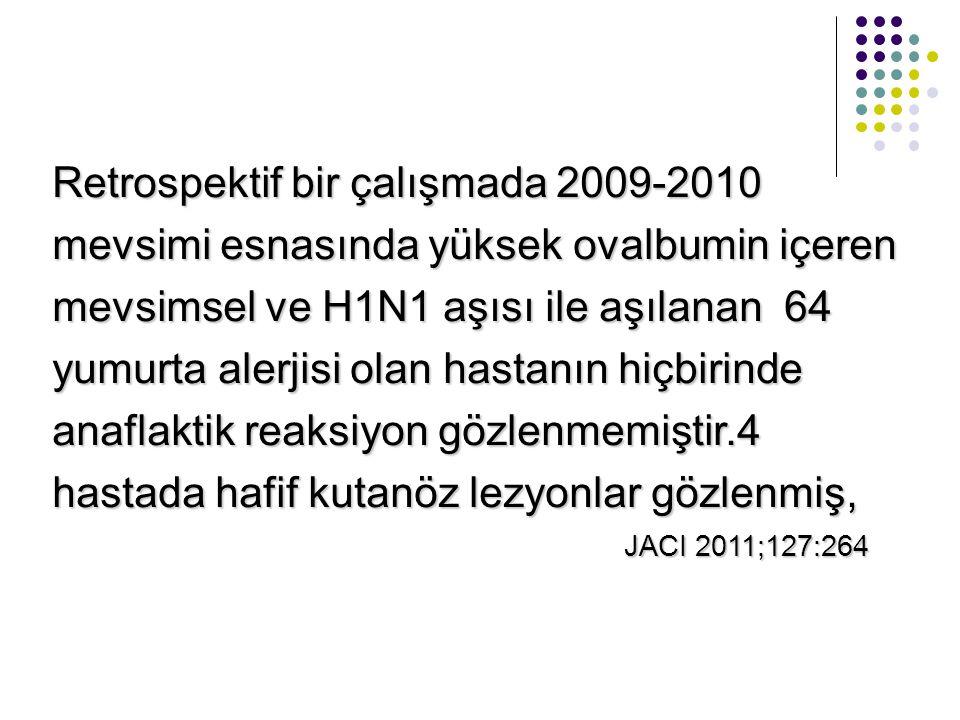 Retrospektif bir çalışmada 2009-2010