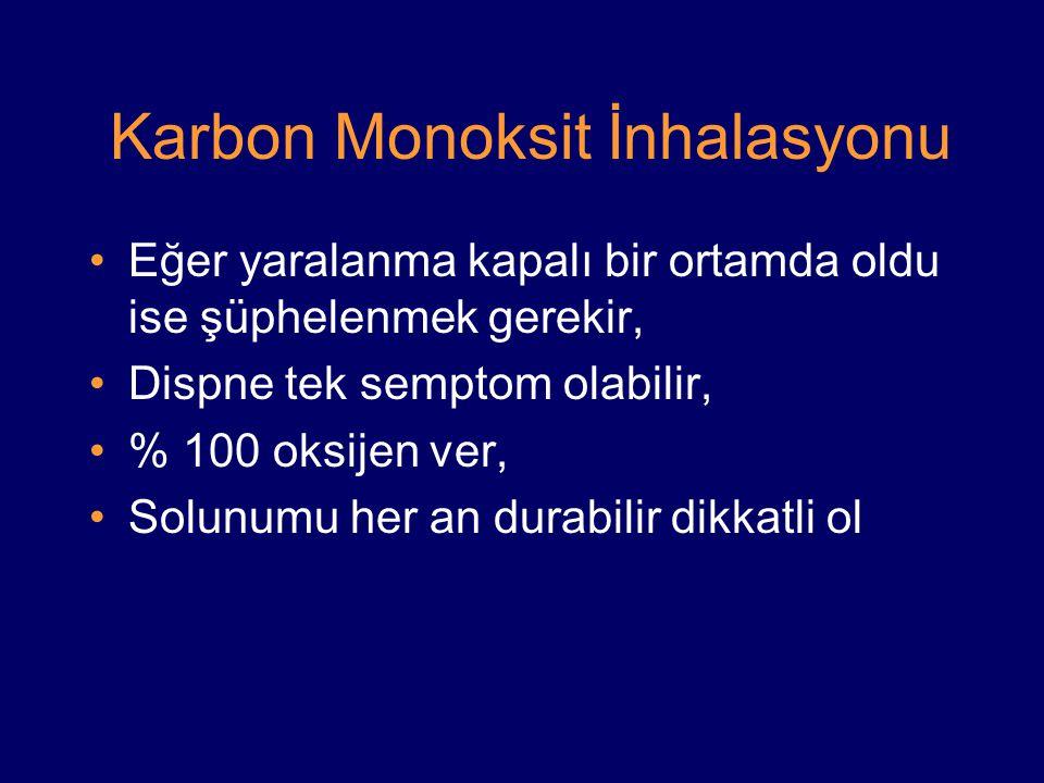 Karbon Monoksit İnhalasyonu
