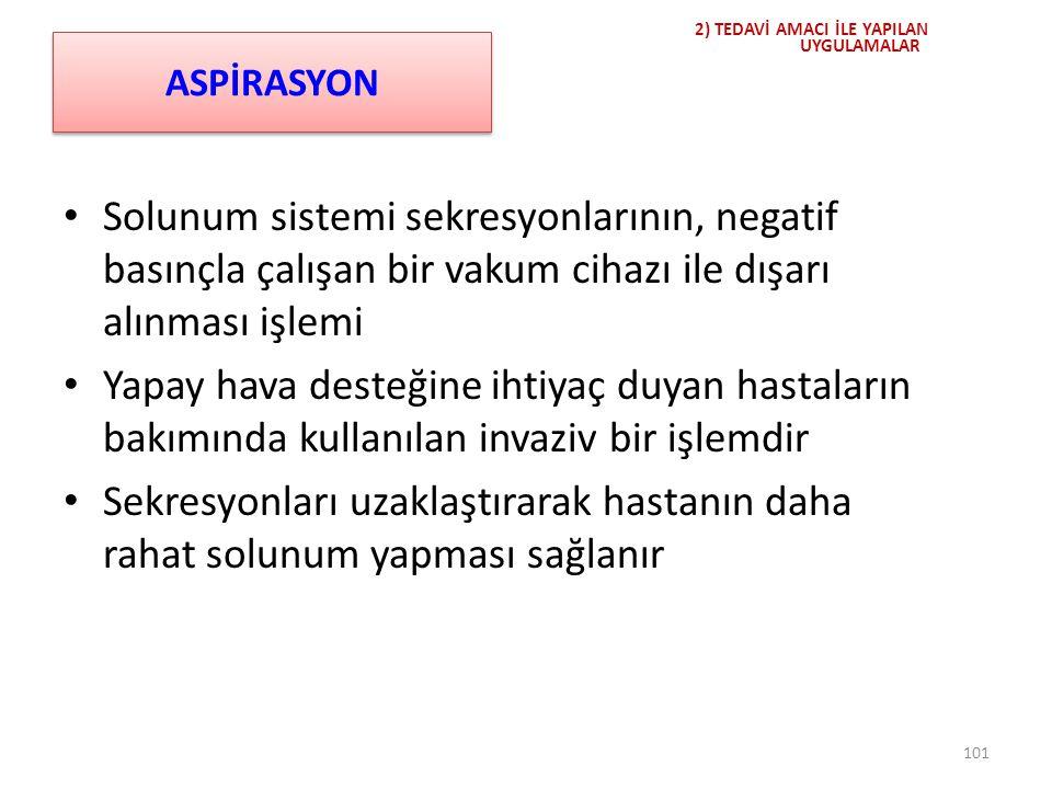 Aspirasyonun uygun yapılmadığı durumlarda gelişen *komplikasyonlar;
