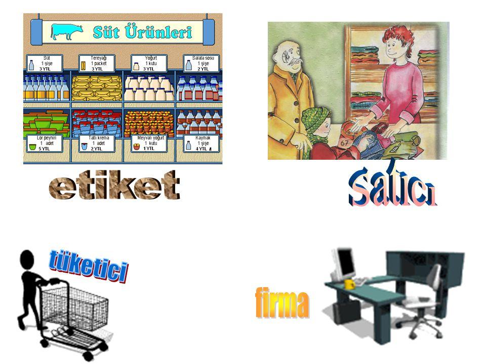Satıcı etiket tüketici firma