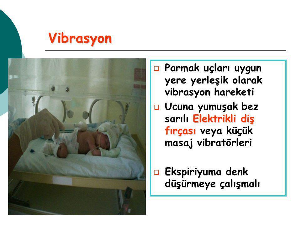 Vibrasyon Parmak uçları uygun yere yerleşik olarak vibrasyon hareketi