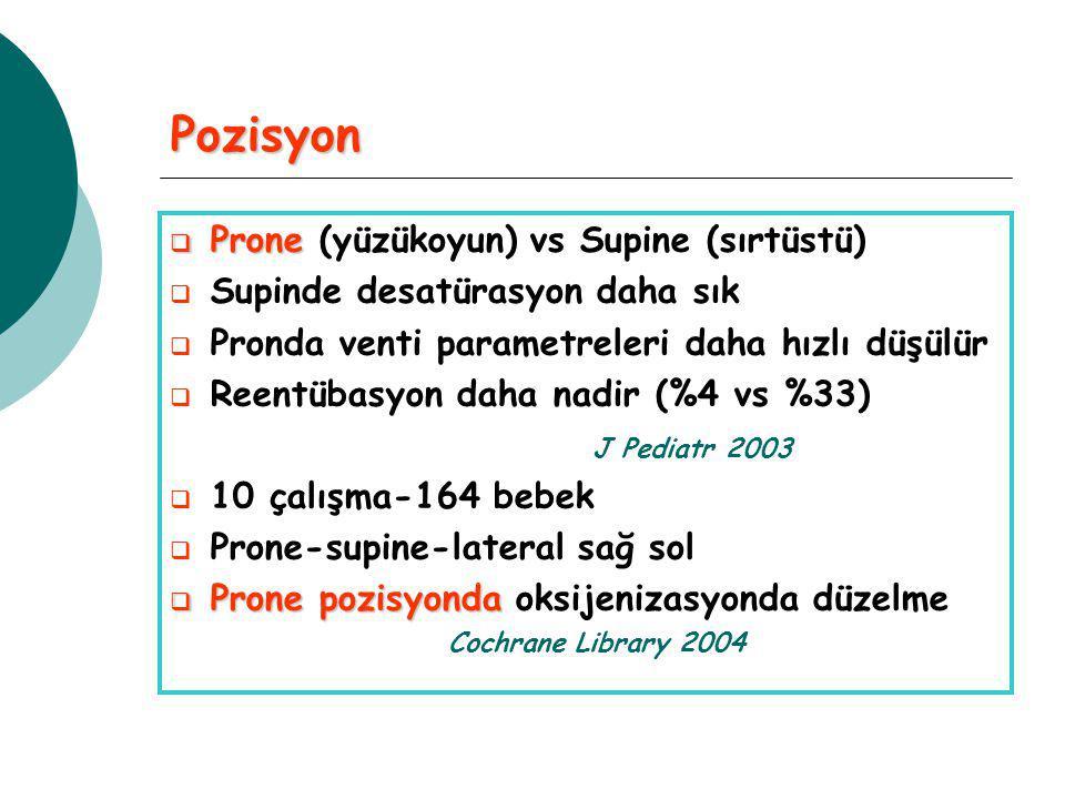 Pozisyon Prone (yüzükoyun) vs Supine (sırtüstü)