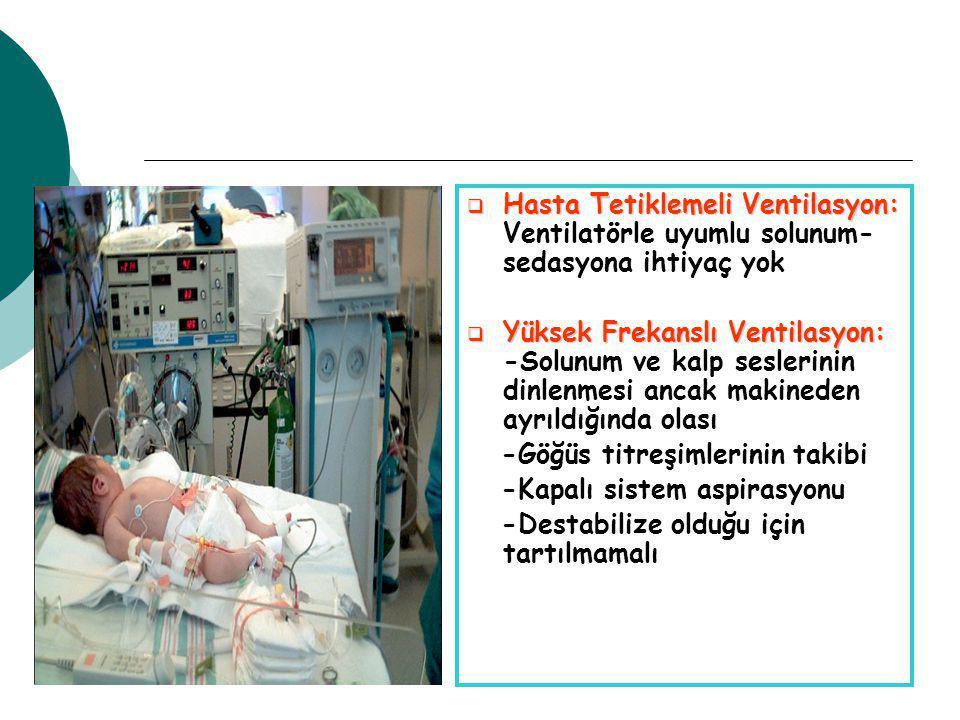 Hasta Tetiklemeli Ventilasyon: Ventilatörle uyumlu solunum- sedasyona ihtiyaç yok