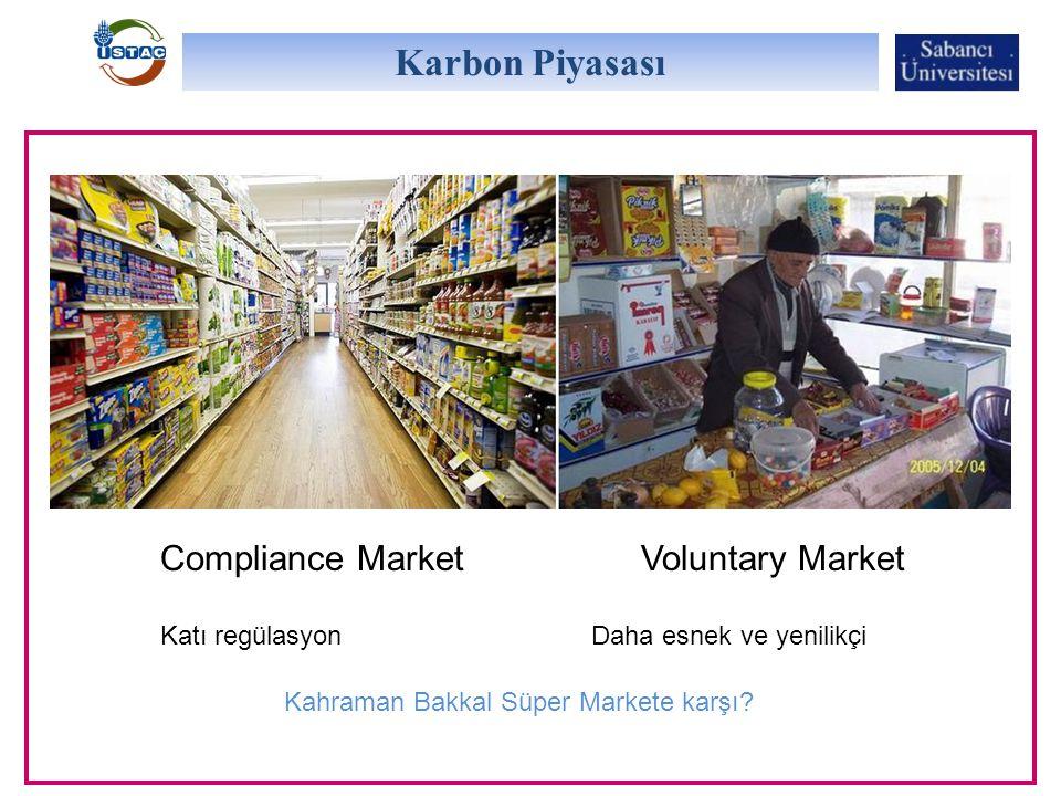 Karbon Piyasası Compliance Market Voluntary Market Katı regülasyon