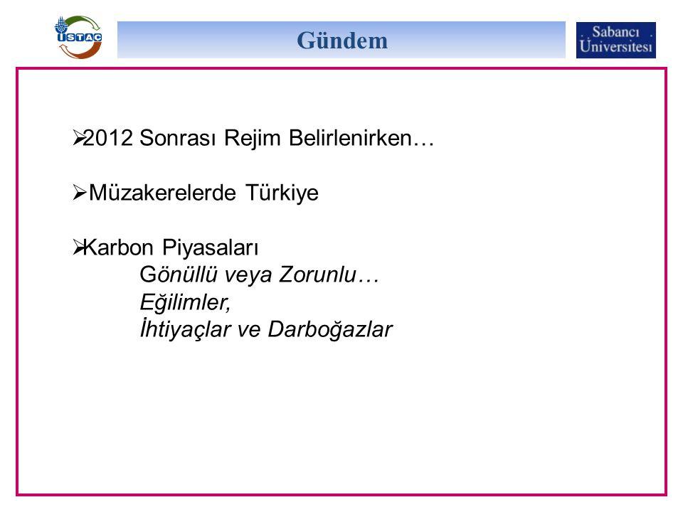 Gündem 2012 Sonrası Rejim Belirlenirken… Müzakerelerde Türkiye