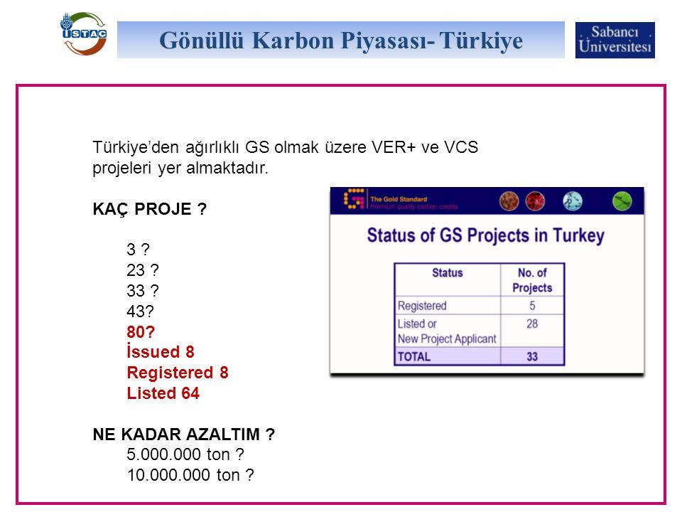 Gönüllü Karbon Piyasası- Türkiye