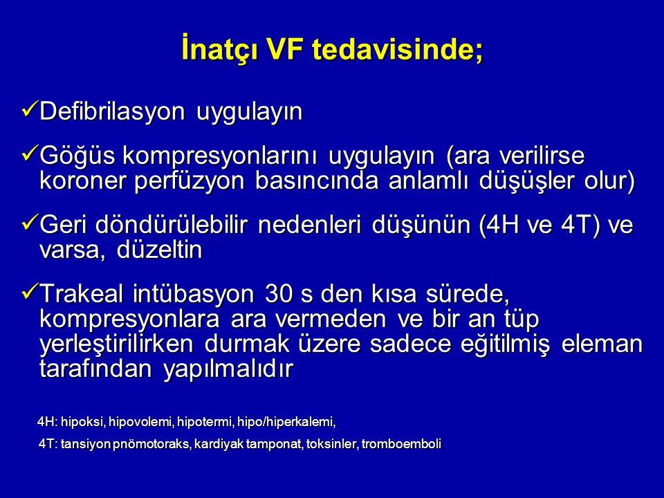 İnatçı VF tedavisinde;
