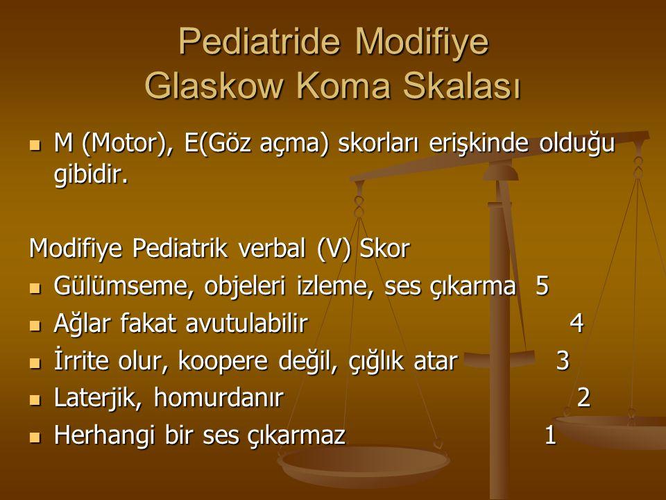 Pediatride Modifiye Glaskow Koma Skalası