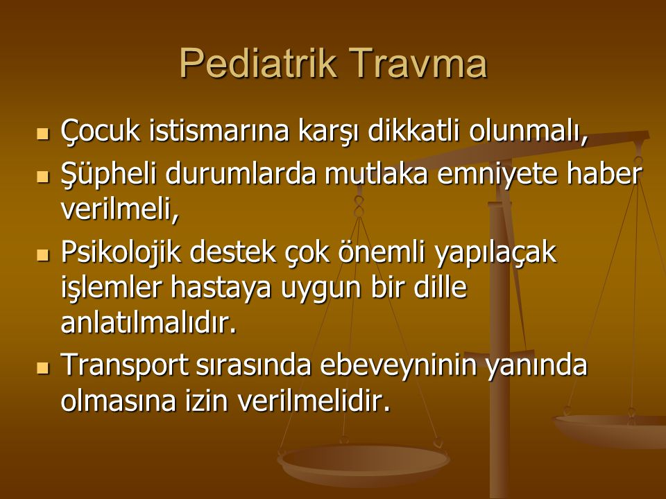 Pediatrik Travma Çocuk istismarına karşı dikkatli olunmalı,