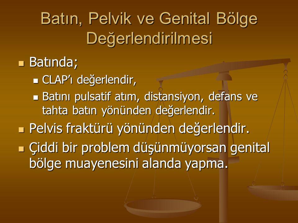 Batın, Pelvik ve Genital Bölge Değerlendirilmesi