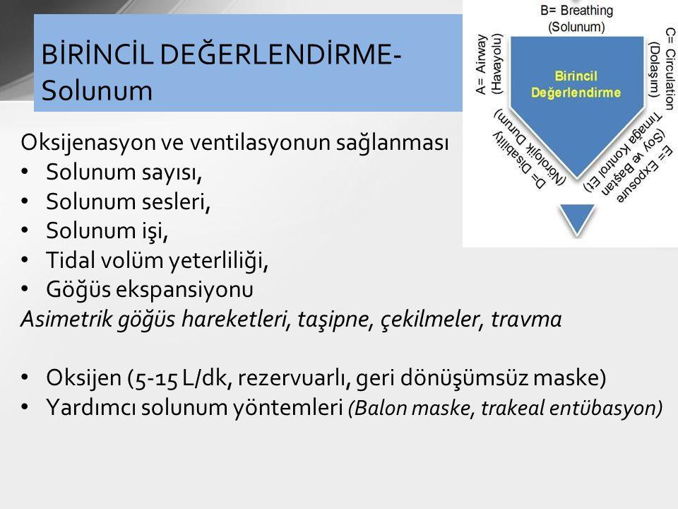 BİRİNCİL DEĞERLENDİRME-Solunum