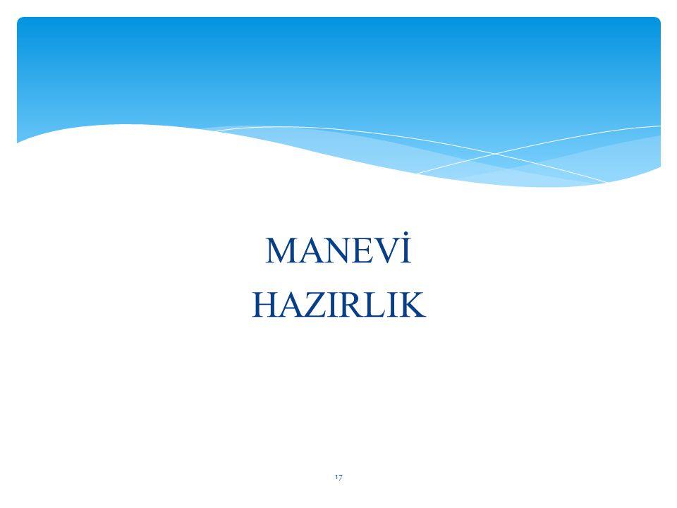 MANEVİ HAZIRLIK