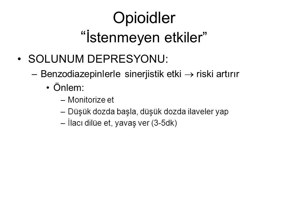 Opioidler İstenmeyen etkiler