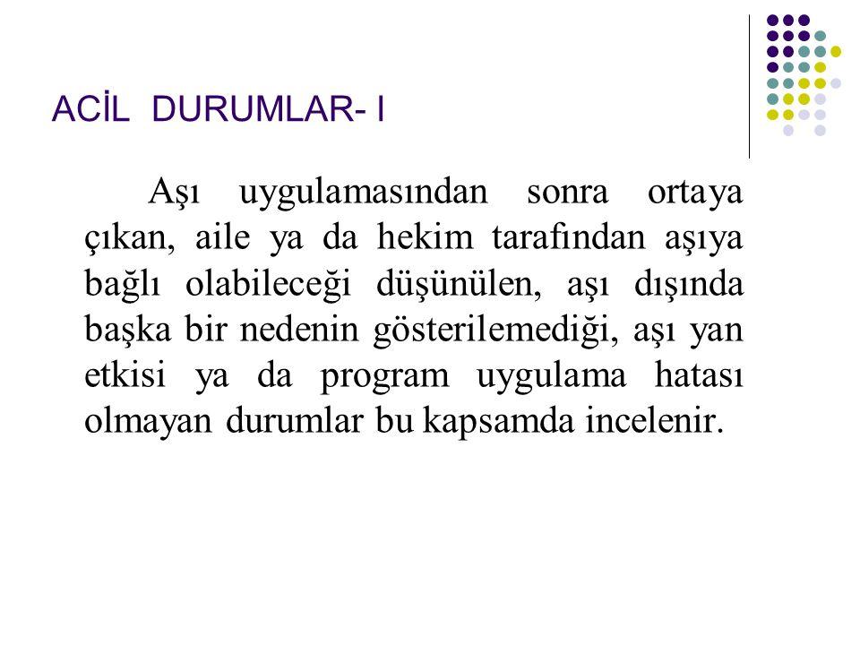 ACİL DURUMLAR- I