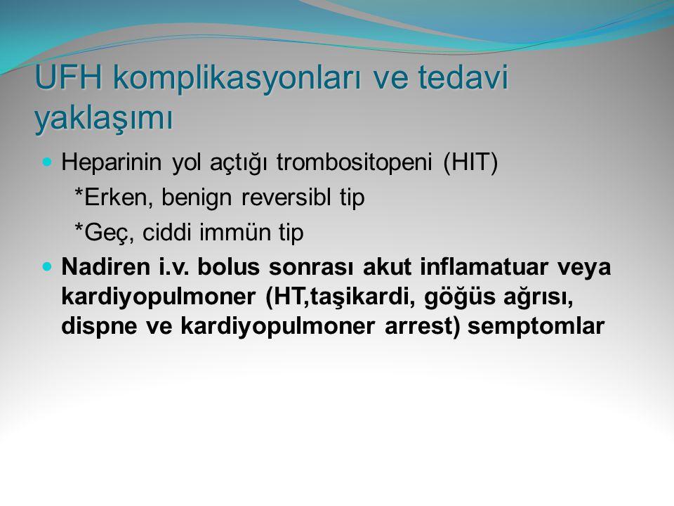UFH komplikasyonları ve tedavi yaklaşımı