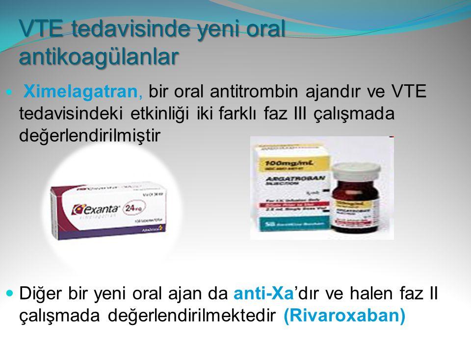 VTE tedavisinde yeni oral antikoagülanlar
