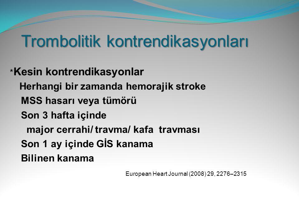 Trombolitik kontrendikasyonları