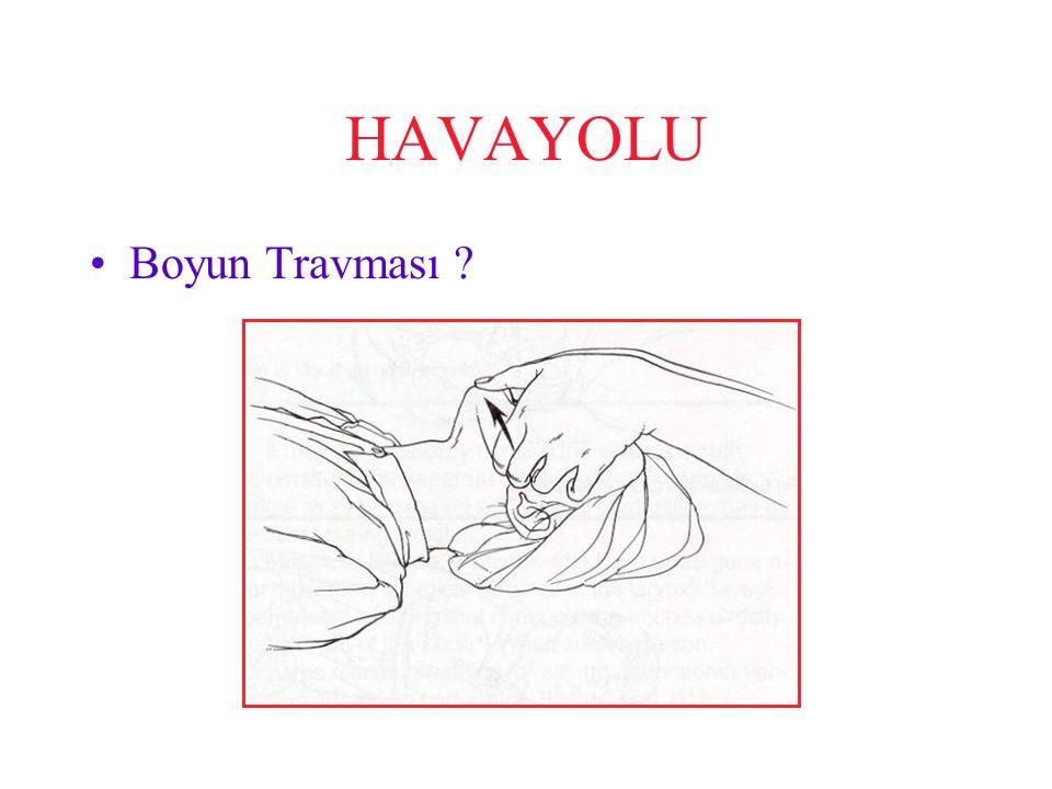 HAVAYOLU Boyun Travması