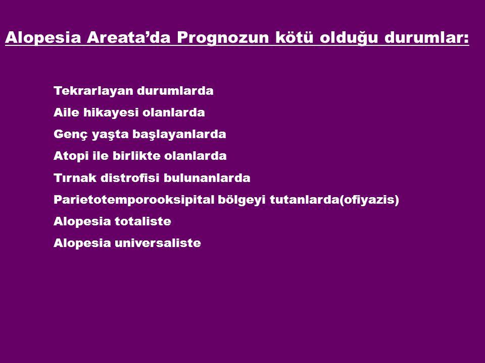 Alopesia Areata'da Prognozun kötü olduğu durumlar: