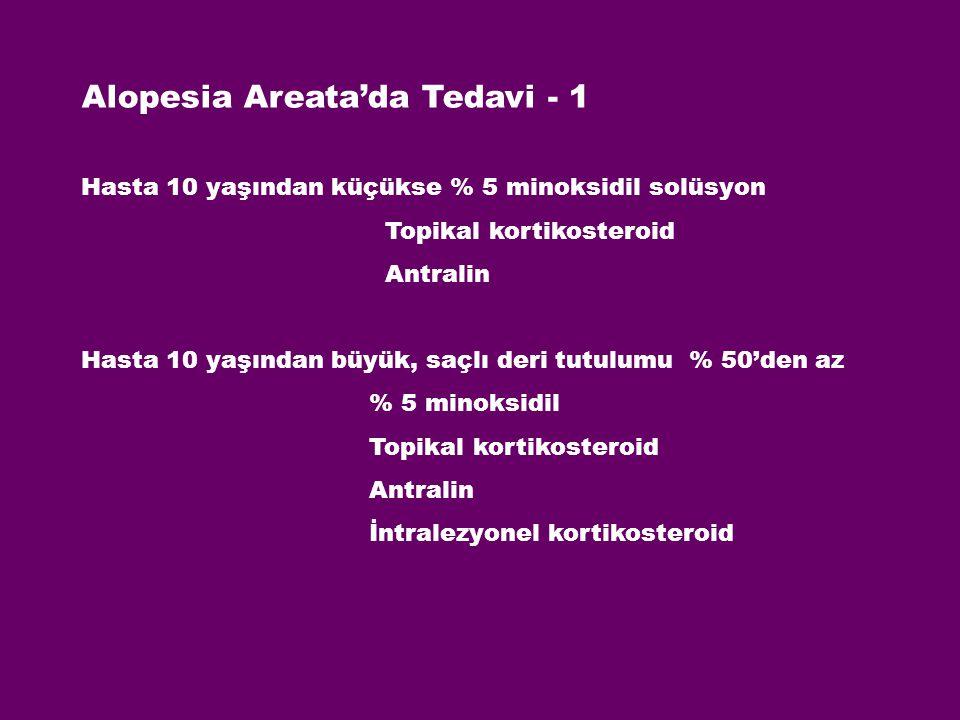 Alopesia Areata'da Tedavi - 1
