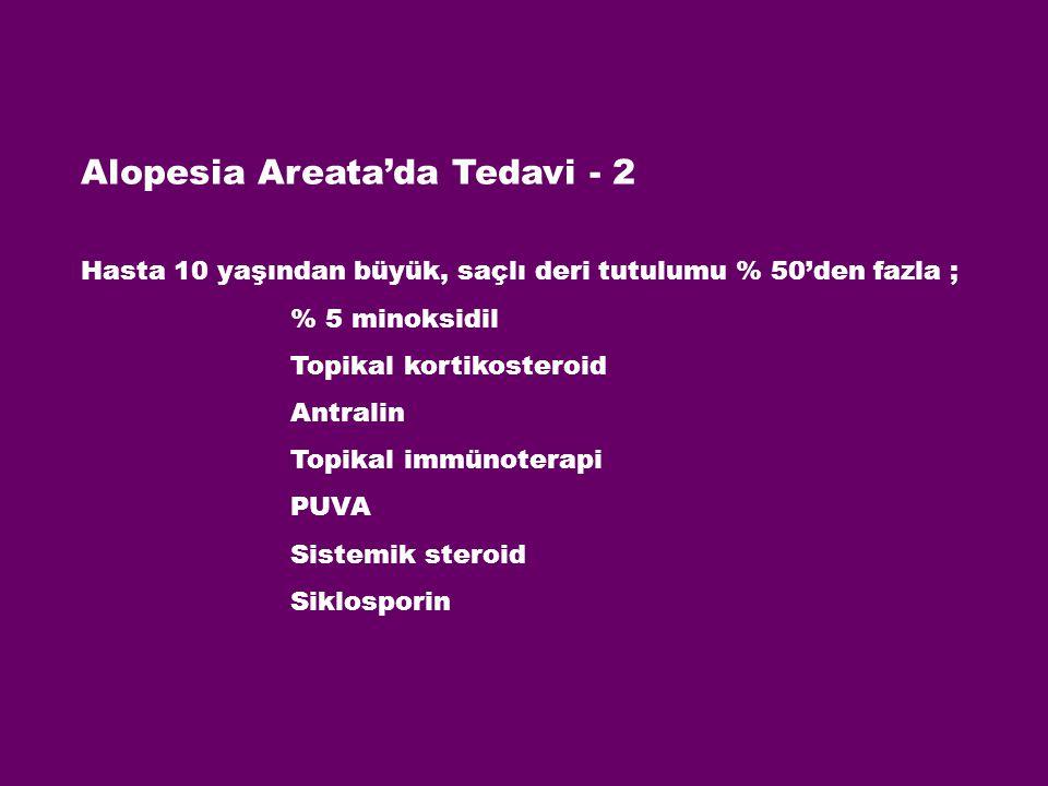 Alopesia Areata'da Tedavi - 2