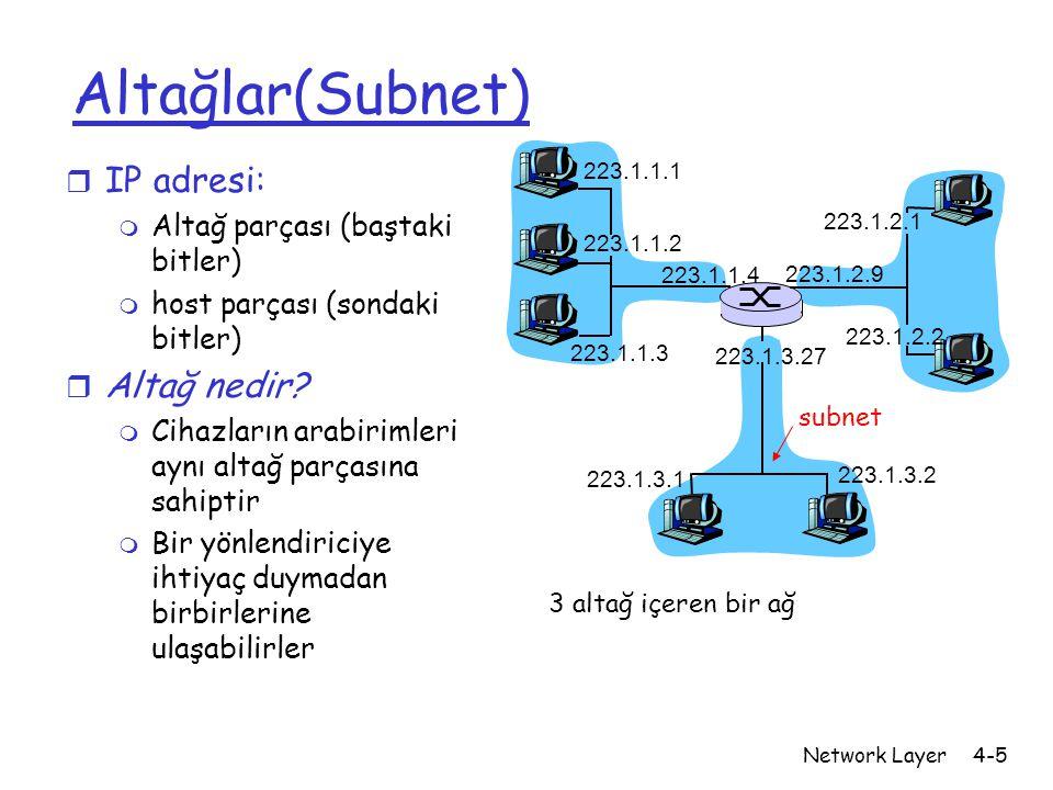 Altağlar(Subnet) IP adresi: Altağ nedir