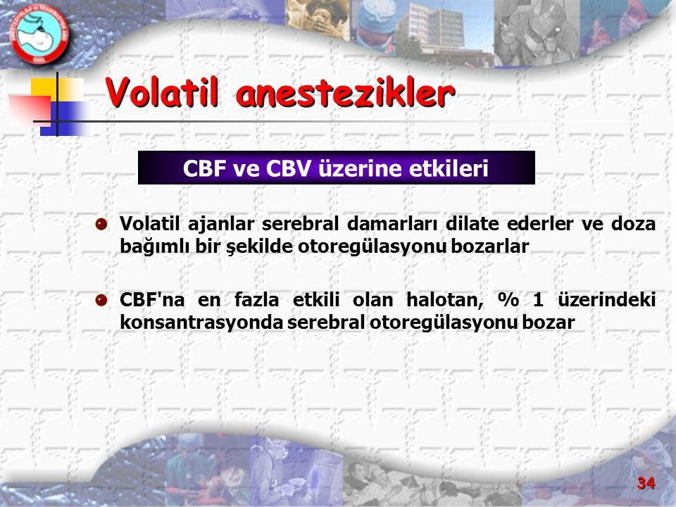 CBF ve CBV üzerine etkileri