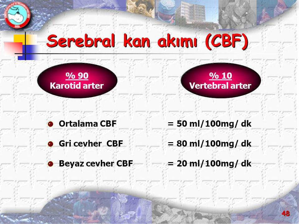 Serebral kan akımı (CBF)