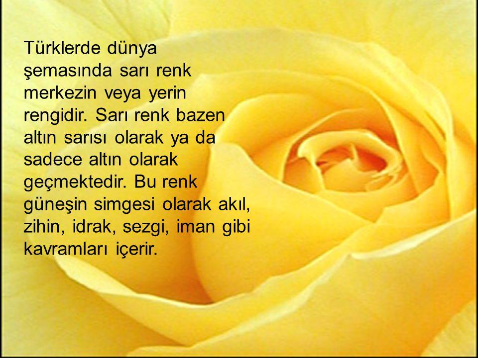 Türklerde dünya şemasında sarı renk merkezin veya yerin rengidir