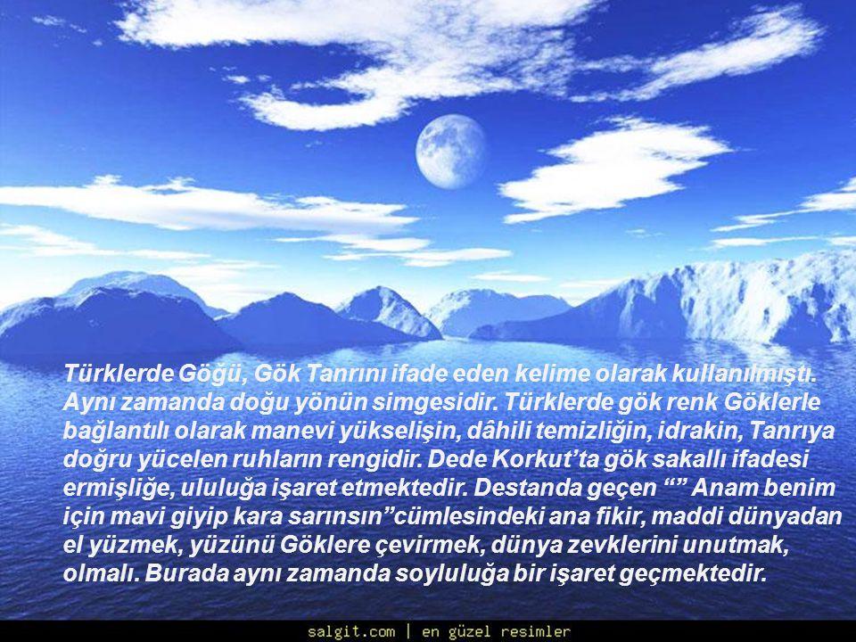 Türklerde Göğü, Gök Tanrını ifade eden kelime olarak kullanılmıştı