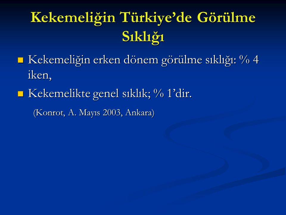 Kekemeliğin Türkiye'de Görülme Sıklığı