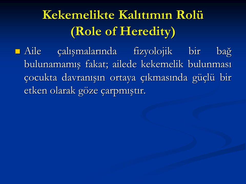 Kekemelikte Kalıtımın Rolü (Role of Heredity)