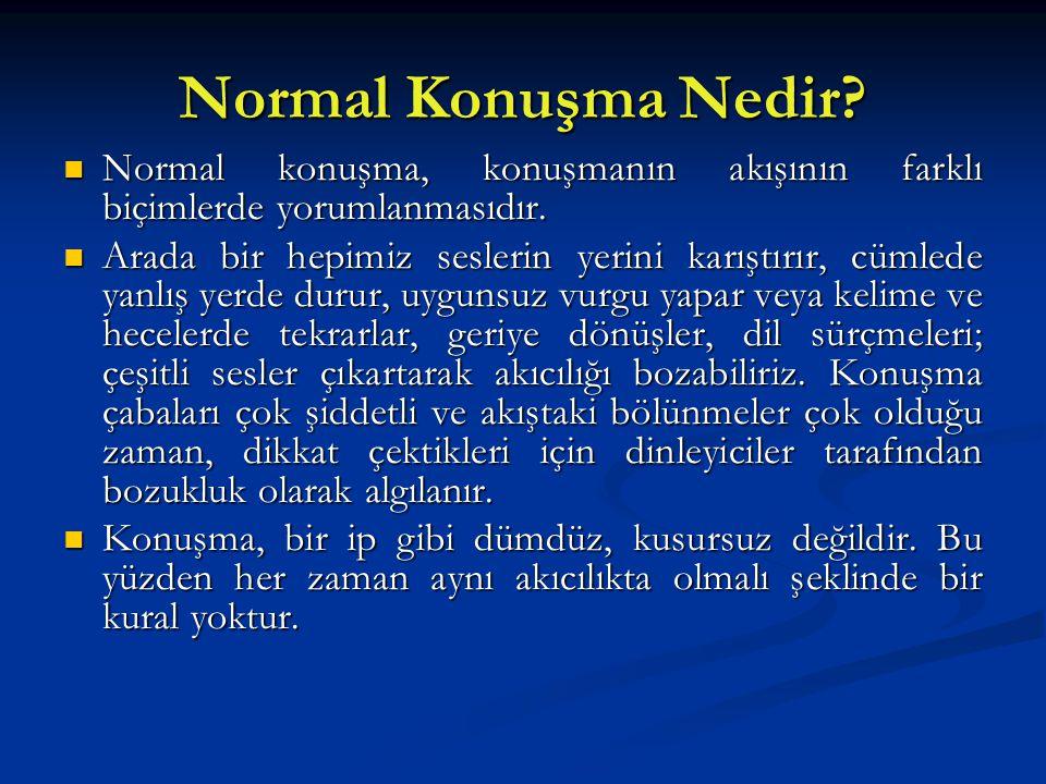Normal Konuşma Nedir Normal konuşma, konuşmanın akışının farklı biçimlerde yorumlanmasıdır.